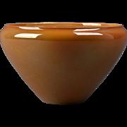Cowan Pottery 1925 Marigold Orange Lustre Angle Bowl #555