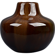 Owens Pottery 1898 Onyx Tiger-Eye Large Gourd Vase #52