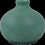Teco Pottery 1905 Matte Teco Green Bulb Vase Shape 52