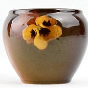 McCoy 1905 Loy-Nel-Art Pansy Standard Glaze Small Jar Pot Vase Jardinier