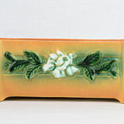Roseville 1950 Gardenia Tan Brown Window Box 658-8