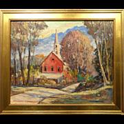 Bernard Nordberg: Indiana Impressionist Oil Painting c.1960