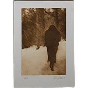Doug Neal: Woman In Snow, Photogravure