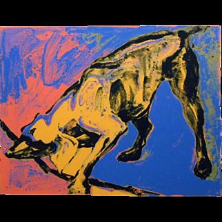 Julie Jankowski: Yellow Dog, Serigraph