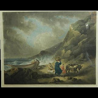 James Ward, After G. Moreland: Fishermen, 1795 Mezzotint