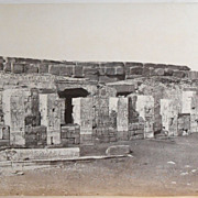 Antonio Beato Egyptian Ruin Antique Albumen Photo