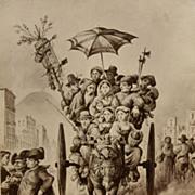 Italian Humor In Antique Albumen Photo #2