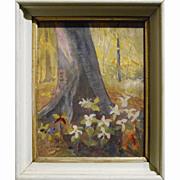 1937 Watercolor Of Trillium - Signed