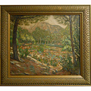 Antique Spanish Impressionist Oil Painting By Tudela