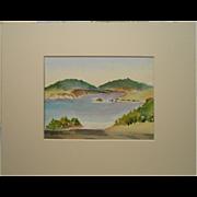 Small Plein Air Watercolor Landscape