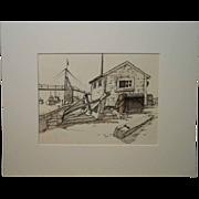 Ogunquit Maine Marine Sketch