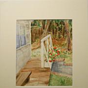 Plein Air Cottage Garden Watercolor