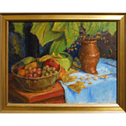 Ronald Seager Oil Still Life With Bittersweet