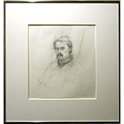 Provincetown Artist's Self Portrait Drawing