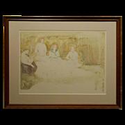 Picnic Watercolor By Jean Harris