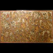 Large Balinese Folk Art Masterpiece Painting