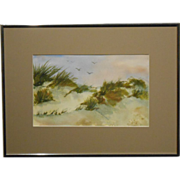 Small Dune Watercolor From 1987