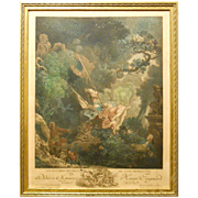 Antique Fragonard French Masterpiece Etching