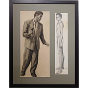 Bob Le Rose: Two Male Figure Studies