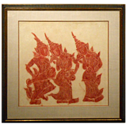 Thai Temple Rubbing With Custom Frame