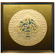 Framed Chinese Embroidery With Quilting