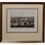 Antique Budapest Steel Engraving #2