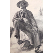Bob Le Rose: Male Figure Study (Hunter)