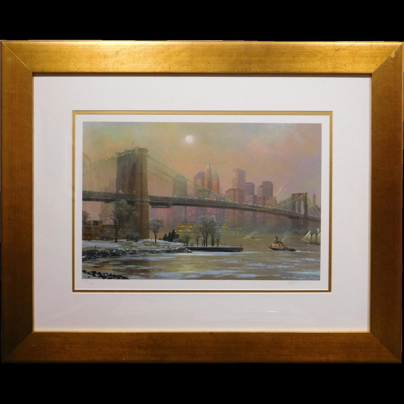 Brooklyn Bridge in Winter by Alexander Chen