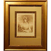 Antique British 1797 Engraving Of Lady Charlotte Duncombe