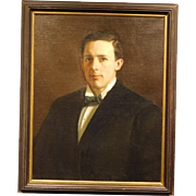 Portrait of Man with Bow Tie, oil, c.1910