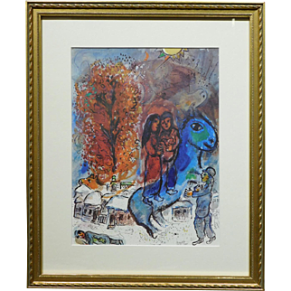 Marc Chagall:  Au Village, Limited Edition Lithograph