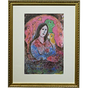 Marc Chagall:  La Pensee, Limited Edition Lithograph