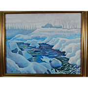 Howard Besnia: Winter Landscape, Oil/Canvas