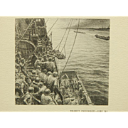 Kerr Eby (After): Priority Passengers, 1944 Lithograph