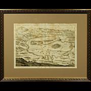 Matthaeus Merian:  17th Century Engraved Map of Cirkhnizer See