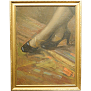 Boston School Study Of Shoes by Maurice Compris