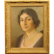 Boston School Portait of a Woman by Maurice Compris