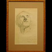 Portrait of a Man, 1958 Pencil Drawing