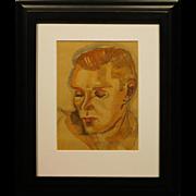 Portrait of a Man, Watercolor, c.1920