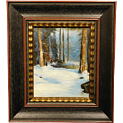 Woods in Snow, c.1940 oil painting