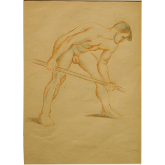 Figure Study of Nude Male