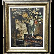 Martin Ocana: Modernist Floral Still Life, 1969 Oil Painting