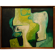 John L. Thompson: Abstract Composition, 1963 Oil on Canvas