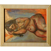 Female Nude, Oil Painting, c.1940