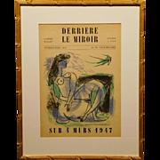 Andre Marchand: Derriere Le Miroir Cover, original lithograph