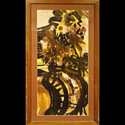 Helen Vaisnoris: Vase of Sunflowers