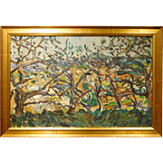 Alice Acker, Spring Orchard Impressonist oil painting