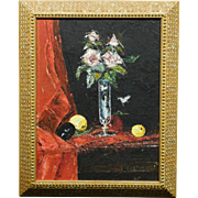J. Weber, Floral Still Life oil painting