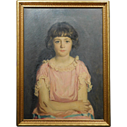 W. Sherwood, Portrait Oil Painting of a Girl