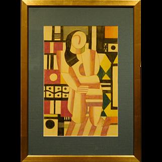 Russian Cubist Still Life, Pastel c.1990